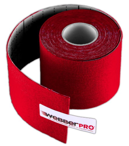 WebberPRO Ruban Kinésiologique Rouge | WebberPRO Red Kinesiologic Tape